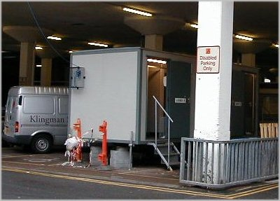 TOILETS IN BARRACKS CAR PARK, COVENTRY CITY CENTRE